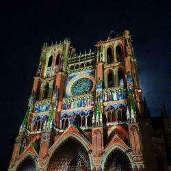 Site touristique Cathédrale Notre - dame D' Amiens - 1 - La Cathédrale Illuminée...magnifique ! -